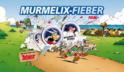 Murmelix Sammelaktion von REAL. 24 x Asterix & Obelix REAL Sammel Murmel im Komplettsatz