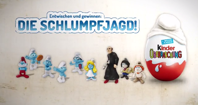 """9 neue Schlümpfe Sammelfiguren im Überraschungsei! Die Figuren aus """"Die Schlümpfe 2"""" jetzt als Sammelserie in jedem siebten Ei."""