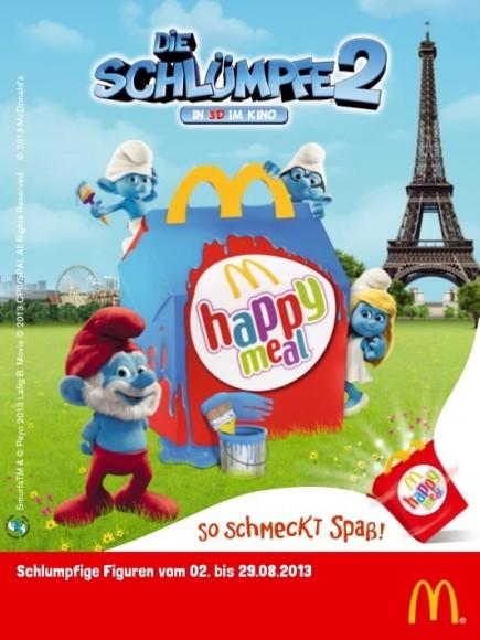 """Die Schlümpfe Sammelfiguren jetzt ganz neu im McDonald's """"Happy Meal"""" … oder natürlich bei Ebay!"""