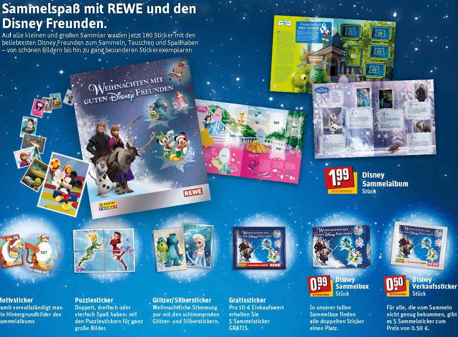 """Weihnachten bei REWE! Sammelsticker """"Die Eiskönigin"""" aus dem Disney Kinofilm"""