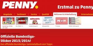Die neue Penny Stickeraktion mit tollen Bundesliga Stickern von Topps. Das neue Penny Aufkleber Fussball Sammelalbum
