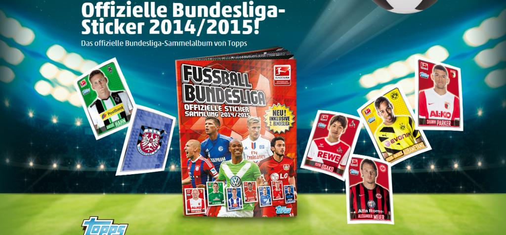 Topps Edition 2015 – Bundesliga Sammelsticker bei Penny mit Sammelalbum und Sammelkarten der 2. Bundesliga