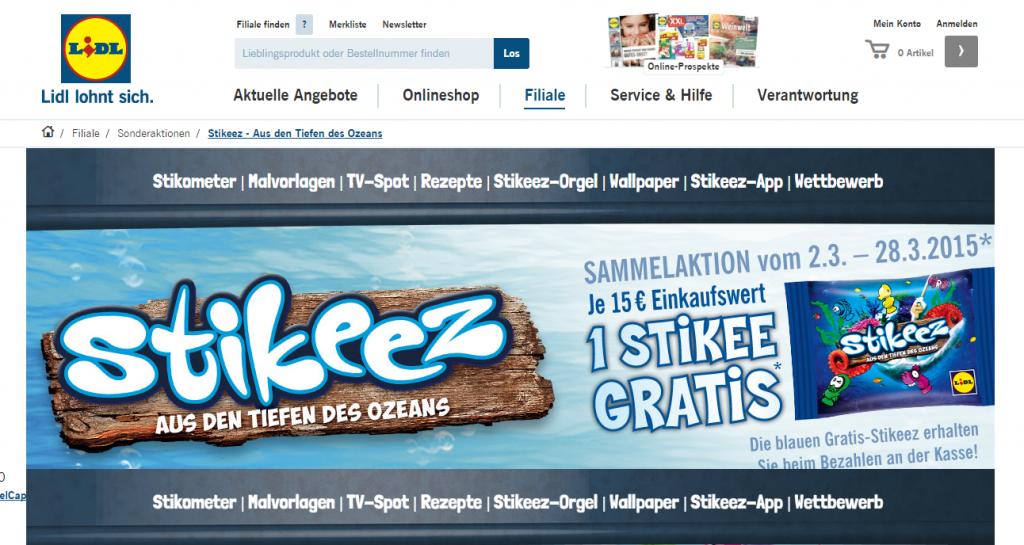 LIDL Stikeez 2015. Infos zur Aktion und Übersicht aller Stikeez.