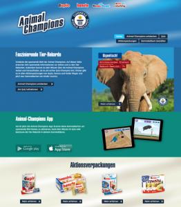 FERRERO Animal Champions Sammelaktion mit Tierstickern und Sammelalbum