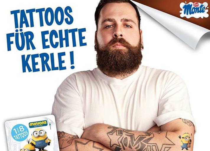 MONTE Minions Tattoos – Jetzt 1 von 8 Minions Tattoos auf jeder Viererpackung