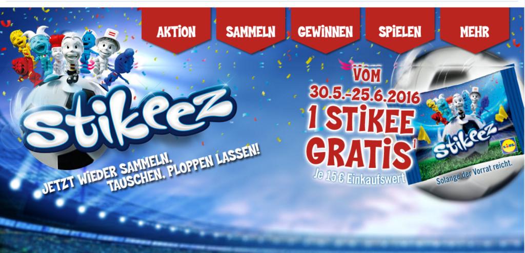 LIDL Stikeez 2016 Fußball EM. Nur noch diesen Monat.